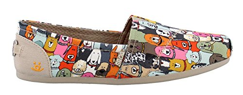 Skechers Women's, Bobs Plush Wag Party Slip on Shoes Multi Fabric 9 M by Skechers