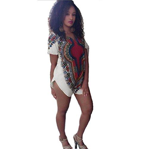 Robe Femme, Fulltime® Femmes Tribal Party traditionnelle africaine Dashiki Hippie Robe