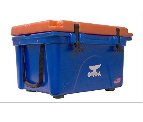 ORCA ORCBL/OR026 Cooler with Extendable Flex-Grip Handles for Comfortable Solo or Tandem Portage, 26 Quart, Blue/Orange