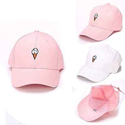 Napoo Clearance Men Women Cute Ice Cream Embroidery Adjustable Hat Baseball Cap from Napoo