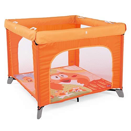 Chicco Chicco Open Box 2019- Parque de juegos infantil con alfombra extraíble, 0-4 años, color naranja (Fancy Chicken) -