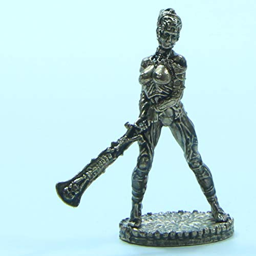 CTOC Woman Warrior with Sword Bronze Statuette Fantasy Miniature 40 mm Collection Figurine Metal Toy Soldier Series Space Amazons pit4 ()