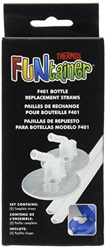 Pajitas de reemplazo de termo para botella de 12 onzas Funtainer, transparente (F401RS6)
