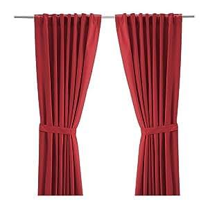 Ikea ritva cortinas con alzapa os 1 par rojo 145x300 - Alzapanos para cortinas ...