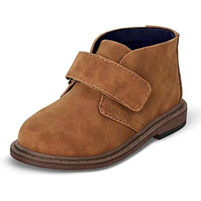 Boys Dress Shoes School Uniform Kids lace-up Classic Oxford Chukka Boots Toddler Hook-and-Loop Comfortable Loafer
