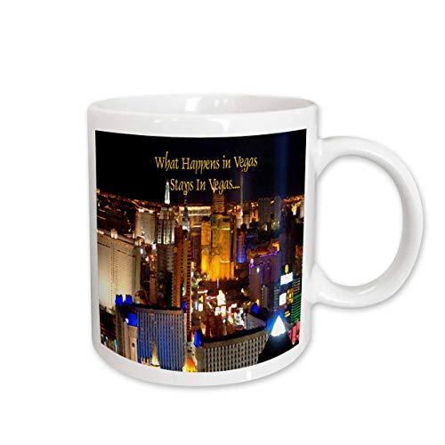 3dRose What Happens in Vegas Stays Ceramic Mug, 15-Ounce