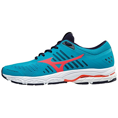 Bblue Stream Women's Top Pinkglo 001 Wave Low Mizuno Sneakers Multicolour Evblue q0aHW