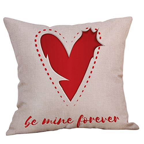 VECDUO Clearance Sale! Valentine's Day Theme Heart-Shaped Print Romantic Sweet Pillowcase, 18x18 -