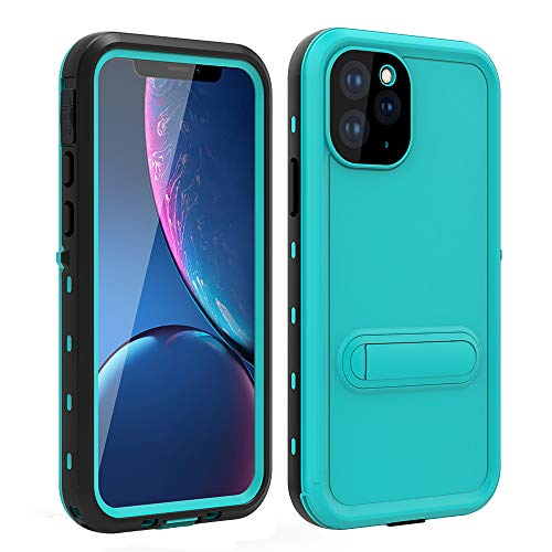 HYAIZLZ iPhone 11 Pro Max Case iPhone Xi Max Waterproof Phone Cases with Hidden Kickstand Slim Fit Back Cover for iPhone 11 Pro Max/Xi Max 6.5inch,Blue