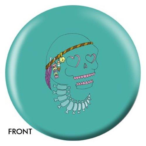 Peace Skull Designerボーリングボール B0056NMVBC  8lbs