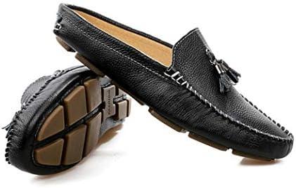 スリッポン メンズ タッセル ローファー オフィス サボ かかとなし 蒸れにくい カジュアル シューズ 革靴 男性 サンダル サッと履ける 黒 デスクワーク快適 紳士靴 履きやすい くつ 室内 ルーム ゆったり スリッパ