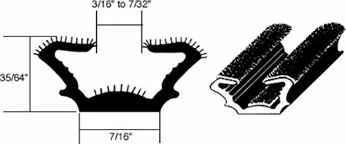 - CRL Flexible Flocked Rubber Glass Run Channel for 1965-1968 Ford and Mercury - 96 in long