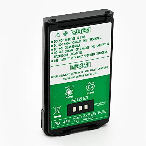ExpertPower 7.2v 1650mAh NiMh High Capacity Two-Way Radio Battery for Kenwood PB-43 PB-43H PB-43N TH-K2AT TH-K2E TH-K2ET TH-K4AT TH-K4E