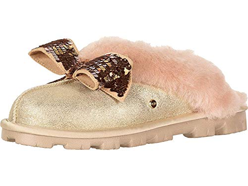 UGG Women's W Coquette Sequin Bow Slipper, Gold, 9 M US (Uggs Bows With Women For)