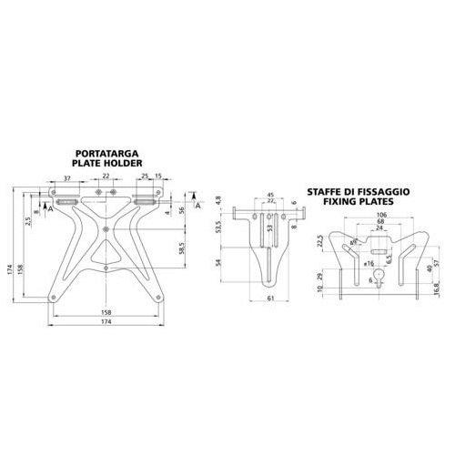 Kennzeichenbeleuchtung zugelassen Lampa KTM 990/Supermoto R 2008/ /2017 Kit f/ür Motorrad Kennzeichenhalter UNIVERSAL 2/Pfeile