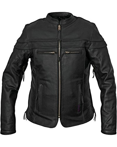 Leather Interstate Black Jacket - Interstate Leather Women's Moxie Scooter Jacket Black Small