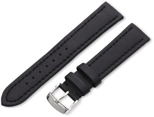 Hadley-Roma Men's MSM739RA 200 20-mm Black Genuine 'Lorica' Leather Watch Strap
