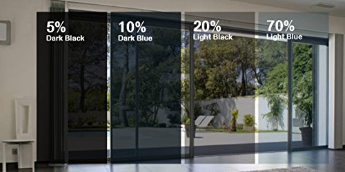 Greenfilm Static Cling Window Tint 20/% Easy DIY for Home and Residential Automotive Privacy Dark Window Film 24 x 120 No Glue
