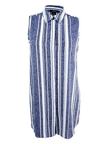 Alfani Navy Stripe - Alfani Women's Printed Tunic Shirt (12, Navy Texture Stripe)