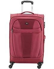 """SWISSBRAND maleta Zurich Mediana 25"""" Impermeable, Expandible, Candado de Seguridad, Organizador y 4 ruedas (Rojo)"""