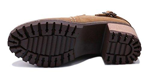 Yellow Slip Mid Heels Women's Chic Court Block On Shoes Pumps Aisun wREvqHn
