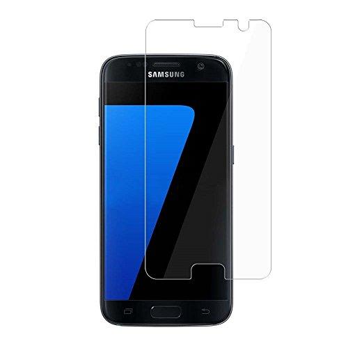 BONUM Galaxy S7 Screen Protector, HD Clear Anti-Scratch Anti-Fingerprint Bubble-free - 2 Piece