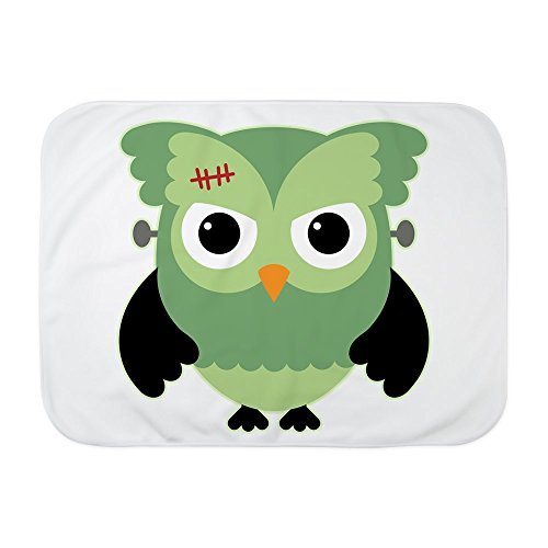 Truly Teague Baby Blanket White Spooky Little Owl Frankenstein Monster by Truly Teague