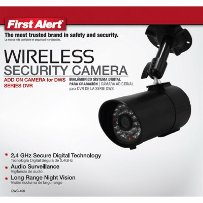 First Alert DWC-400 Digital Wireless Indoor and Outdoor Security Camera - First Alert Security System