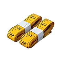 Versuswolf 120 Inches/300cm Soft Tape Measure,Pocket Measuring Tape for Sewing Tailor Cloth Body Medical Measurement,Yellow 2-Pack