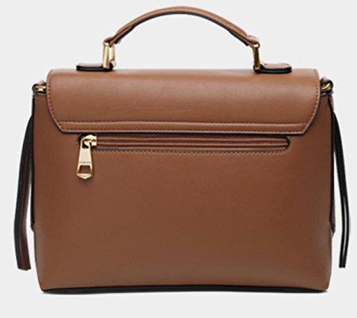 Simple brown Classique Joker Sac Bag Postman Bandoulière Bag Bag Lady Messenger Rétro à Sac wxOfq4OI