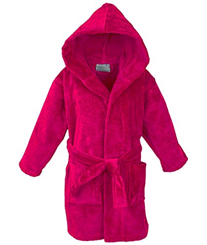 Bathrobe Cozy Velour Hooded Robe (3-4 Years, Hot Pink) ()
