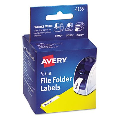 ls, 1/3 Cut File Folder, White, 130/Roll, 2 Rolls/Box, Sold as 1 Each ()