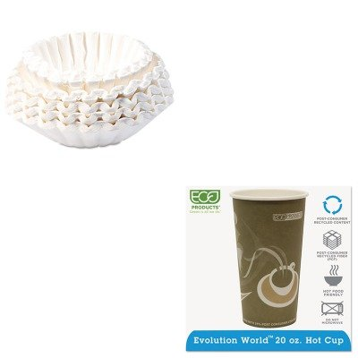 KITBUN1M5002ECOEPBRHC20EW - Value Kit - ECO-PRODUCTS,INC. Evolution World 24% PCF Hot Drink Cups (ECOEPBRHC20EW) and Bunn Coffee Commercial Coffee Filters (BUN1M5002) by Eco-Products, Inc