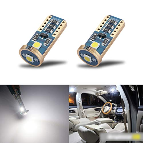 iBrightstar Wedge T10 168 194 LED Bulbs For Car Interior Dome Map Door Courtesy License Plate Lights,Xenon White ()
