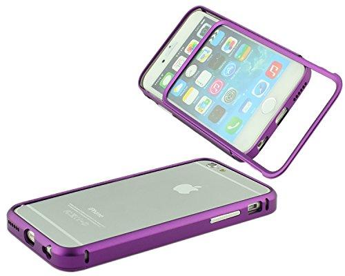 Custodia protettiva per iPhone 6(4.7) Case Alumnium cornice CNC metallo Slide In Alluminio Bumper Cover Custodia scorrevole da Pellicola Protettiva inclusa sturz CNC PURPLE VIOLA