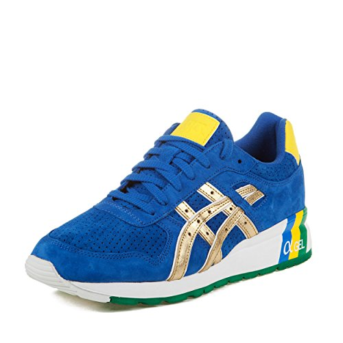 Asics Mens GT-II KFE Brazil Blue/Gold Suede Running, Cross Trainers Size 10.5