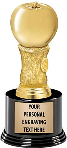 - Crown Awards Apple Trophies with Custom Engraving, 7.25