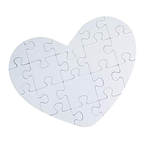 DIY Blank Heart Puzzle Crafts - Class Pack of 24]()