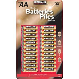 Kirkland Signature AA 1.5V Alkaline Batteries, 192 pack. (4x48) by Kirkland Signature