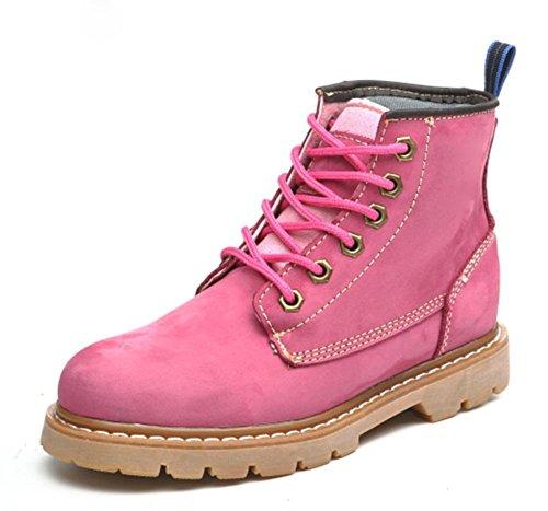 Frau im Frühjahr und Herbst Frau Stiefel Martin Stiefel Freizeitschuhe Aufzug pink