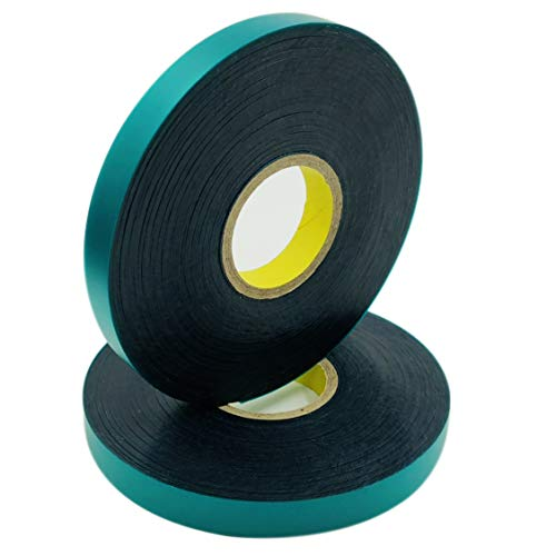 (Ugold 8mil Thick 150 feet x 1/2'' Stretch Tie Tape Plant Ribbon Garden Green Vinyl Stake - 2 Pc)