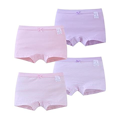 Zegoo 4-16 Years Girls Kids 4 Pack Princess Cotton Underwear