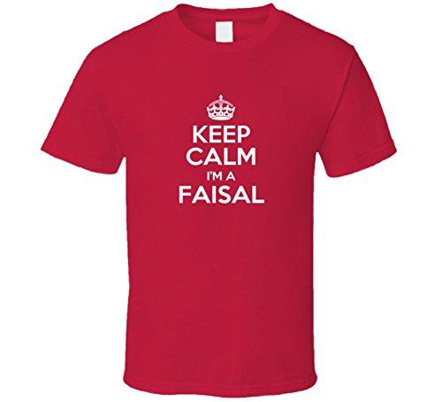 Faisal Keep Calm Parody Family Tee T Shirt L Red