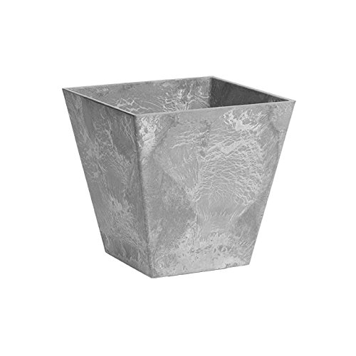 ArtStone 35120 Ella Square Planter, 12-Inch, Grey ()