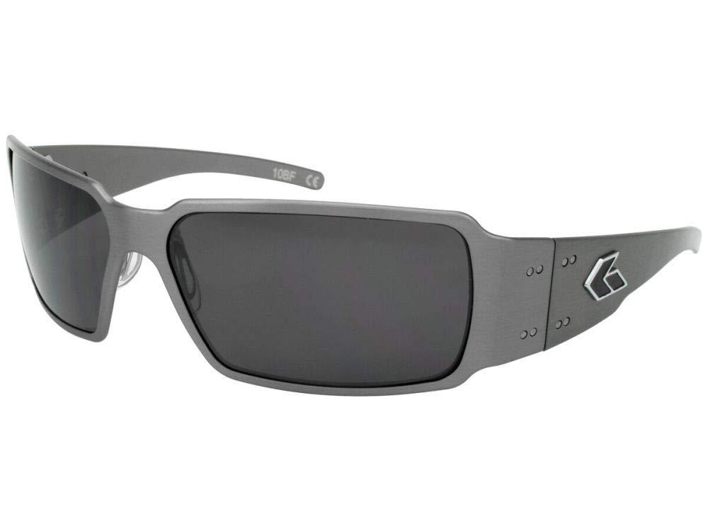 Gatorz Eyewear, Boxster Model, Aluminum Frame Sunglasses -Gun Metal/Smoked Lens