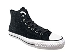 Add some smoothness to your style with the Converse Chuck Taylor All Star Pro Peppered Suede. Plush suede upper for comfort and durability. Breathable mesh lining. Lace-up front with metallic eyelet details. Signature Chuck Taylor design incl...