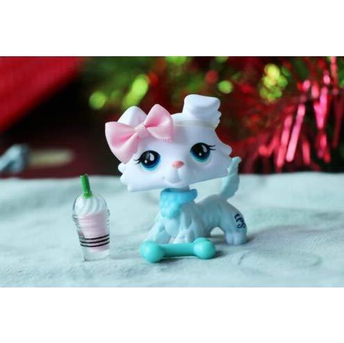 Pet Shops Littlest Custom Made OOAK LPS New Collie White Blue Eyes ()