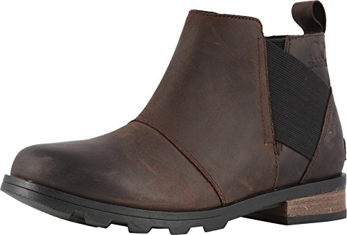 Sorel - Women's Emelie Chelsea Waterproof Ankle Boots, Cattail, 11 M US (Size 11 Boots For Women)
