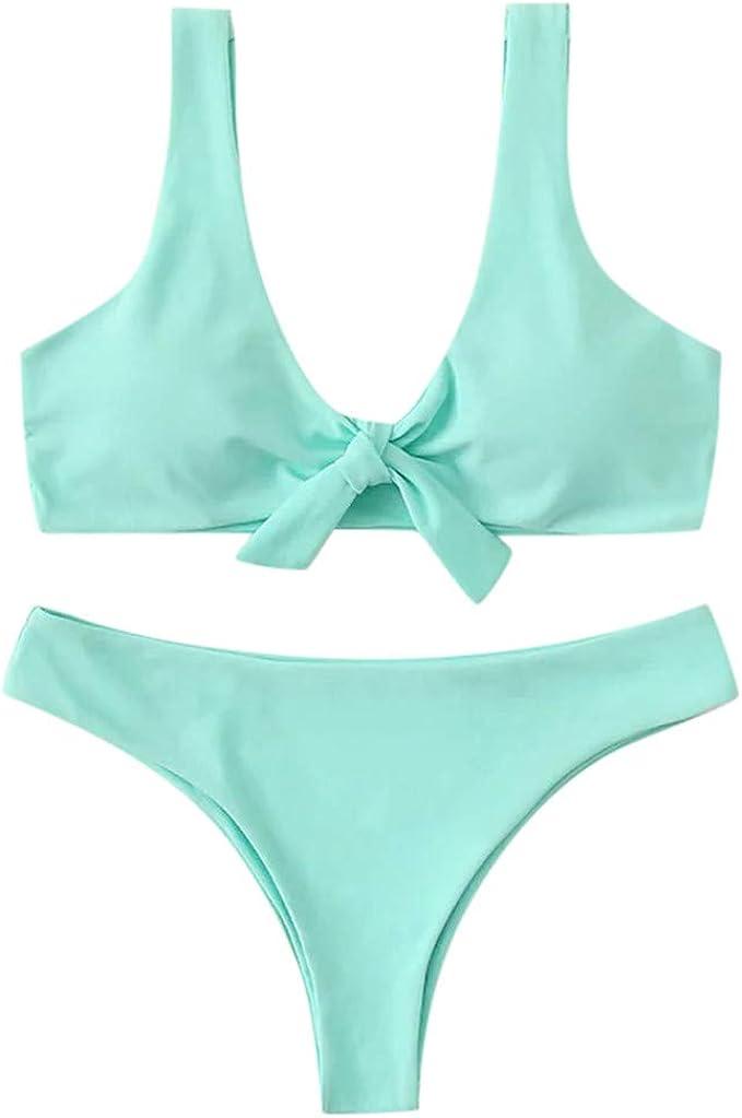Traje de baño de Bikini para Mujer, Estilo Vintage, con Nudo de ...