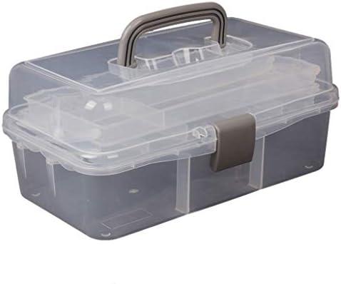 HLD ツールボックス小学生描画ボックスは、透明なプラスチック家庭用ストレージボックス絵画 ツールボックス (Color : C)